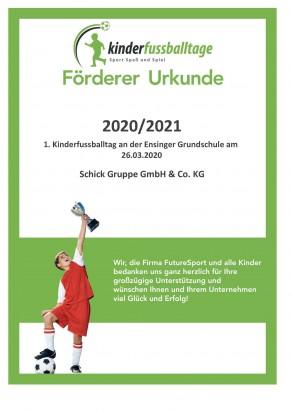 Förderer URKUNDE 2020